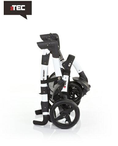 【好禮五選二】德國【ABC Design】3TEC 嬰兒推車(黑白個性款)(蚊帳/雨罩-11月寄出) 2