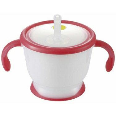【全系列特價68折】日本【Richell-利其爾】戶外吸管水杯200ml(桃紅) 0