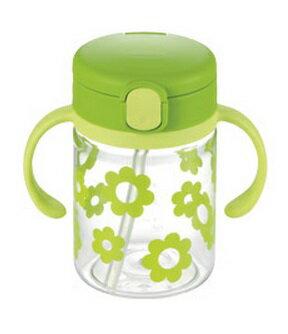 【全系列特價68折】日本【Richell-利其爾】戶外吸管水杯200ml(綠) 0
