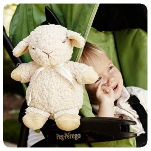 美國【Cloud b】寶貝外出舒眠音樂玩偶-綿羊/長頸鹿