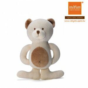美國【miYim】有機棉咬咬牙娃娃禮盒(一入-小熊) 0