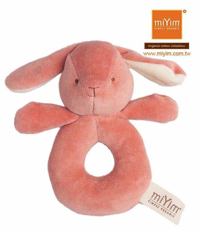 美國【miYim】有機棉系列手搖鈴 (邦妮兔兔) 0