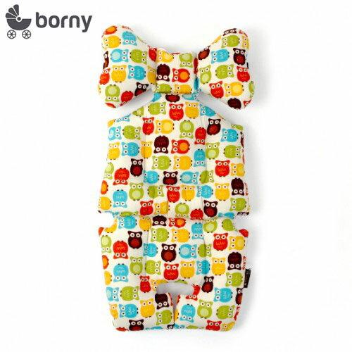 韓國【 Borny 】 全身包覆墊(推車、汽座、搖椅適用)(貓頭鷹) 0