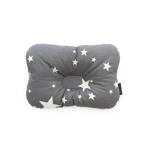 韓國【 Borny 】 3D透氣蜂巢塑型嬰兒枕(0~6個月適用)(灰星星) - 限時優惠好康折扣