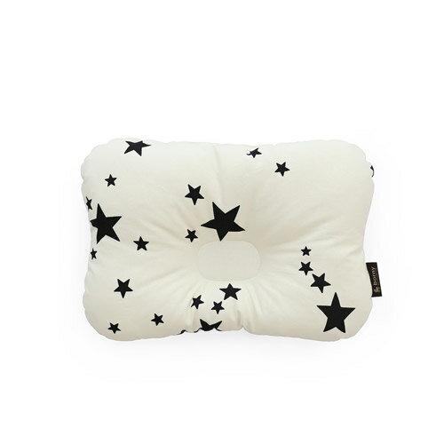 韓國【 Borny 】 3D透氣蜂巢塑型嬰兒枕(0~6個月適用) (白星星) 0