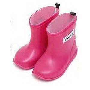 【本月贈鞋墊】日本【Stample】兒童雨鞋(蜜桃紅) 0