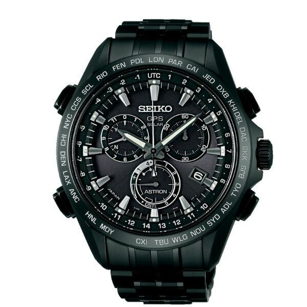 Seiko Astron 8X82-0AB0SD(SSE009J1)太陽能GPS校時腕錶/黑面44.6mm