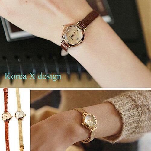 正韓 手錶 簡約極細錶帶優雅石英錶 D&M 立體錶面類CK 現+預 【A00011】