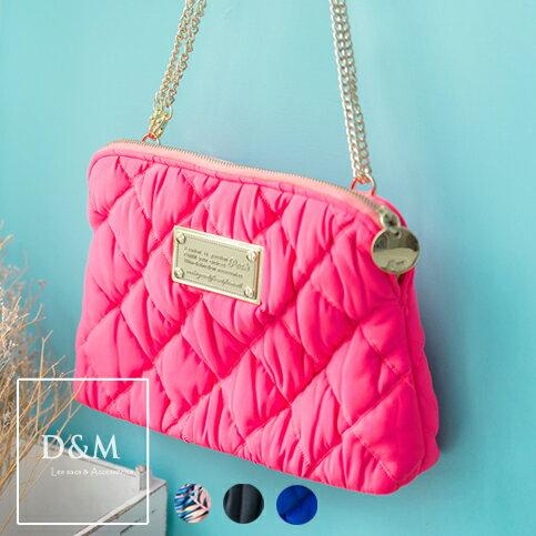 菱格貝殼包/手拿包 曼谷精品設計POSH側背斜背包洋裝搭配D&M【K00006】