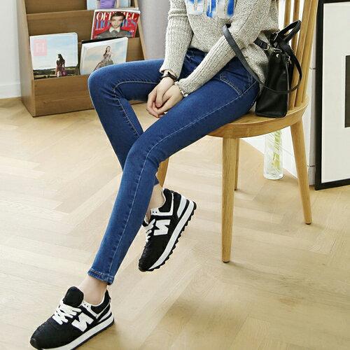 促銷專區免運 - 牛仔褲 - 斜口袋兩釦牛仔褲【23279】藍色巴黎《S~L》現貨+預購 1