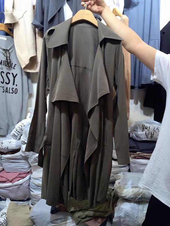 正韓隨性領風衣外套(現/預)4色 4