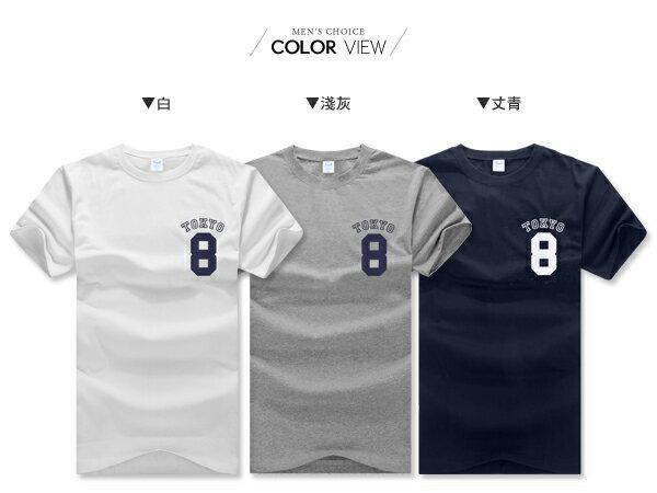 ☆BOY-2☆【PPK82132】美式休閒型男TOKYO8短袖T桖 1