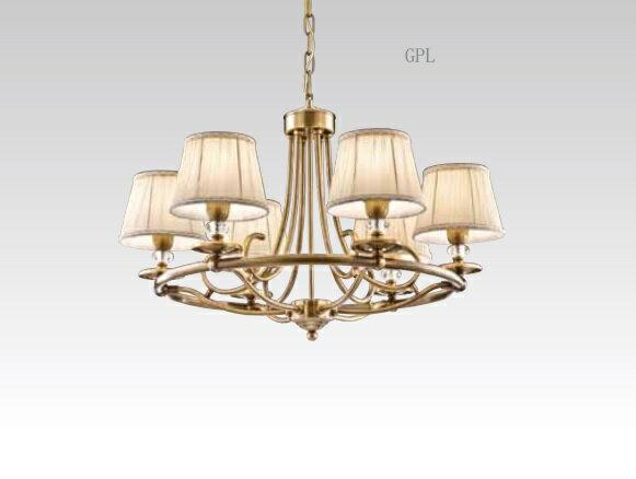 古銅造型布罩吊燈 E14 * 6