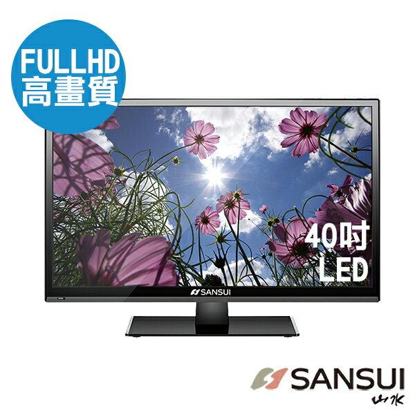 【SANSUI 山水】40吋FHD類比LED電視SLED-4006