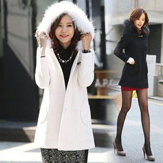 羊毛呢風衣大衣外套女