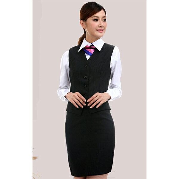 OL辦公室女西裝背心  條紋馬甲背心 商務服務員職業制服