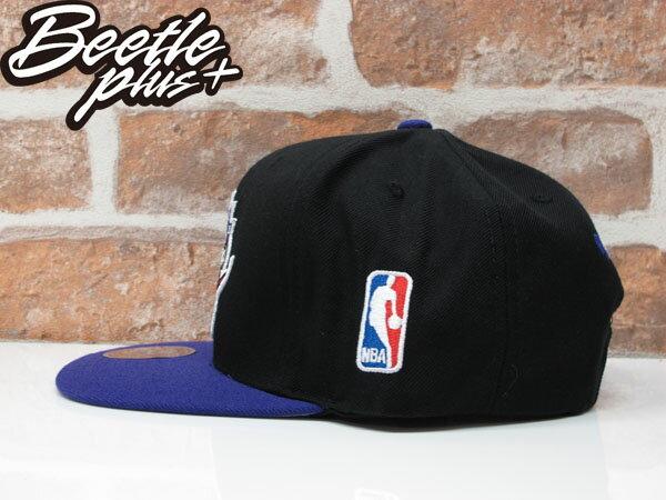 BEETLE MITCHELL&NESS NBA TORONTO RAPTORS LOGO SNAPBACK 多倫多 暴龍 黑紫 後扣棒球帽 1