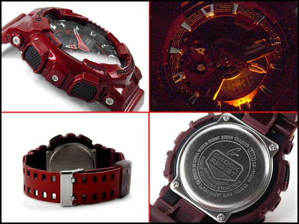 國外代購 CASIO G-SHOCK 炫光金屬街頭-紅 GA-110NM-4A   防水 手錶 腕錶 電子錶 4