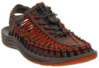 《台南悠活運動家》KEEN 美國 男款戶外繩編涼鞋 灰橘 1013088