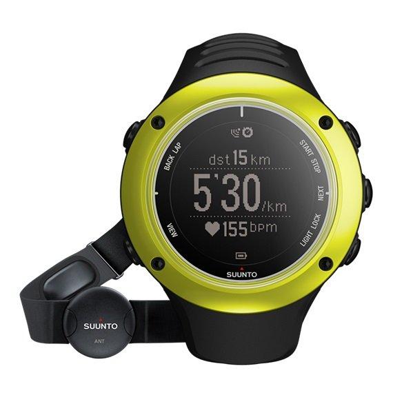 《台南悠活運動家》 SUUNTO 芬蘭 AMBIT2 S GPS 電腦腕錶-心律帶 LIME HR