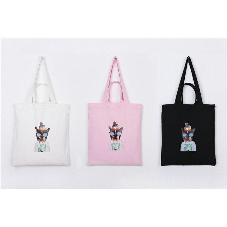 手提包 手提包 帆布袋 手提袋 環保購物袋--手提/單肩/拉鏈【SPA91】 BOBI  10/06 1