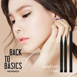 韓國 MEMEBOX BACK TO BASICS 雙面嬌娃超防水眼線液筆 #01 黑 0.5g ☆真愛香水★