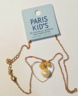 日本東京進口 PARIS KID'S 蝴蝶結珍珠項鍊 素晴館