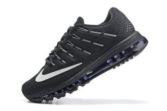 NIKE Air Max 2016 男生氣墊慢跑鞋 運動鞋 全掌氣墊男子鞋 (全黑40-45)