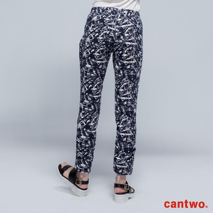 cantwo印象派圖紋彈力窄管褲(共一色) 3