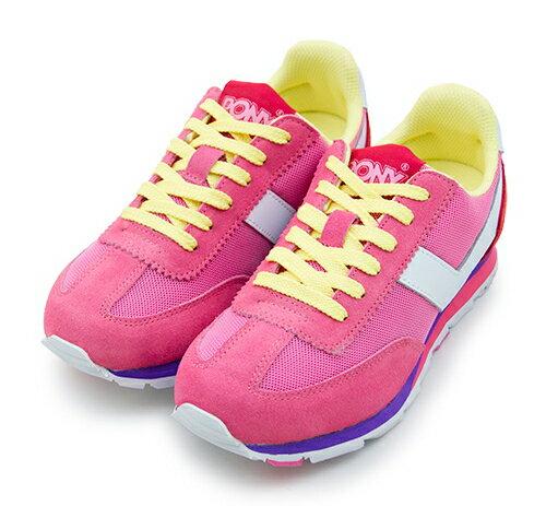 【陽光樂活】PONY 繽紛韓風復古慢跑鞋 SOHO 冰淇淋系列 粉黃紅 53W1SO78PM