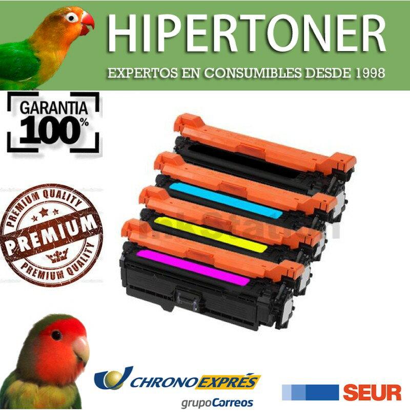 Pack 4 tóners compatibles HP CE260X - CE261A - CE262A - CE263A para HP Laserjet CP4520 CP4525 0