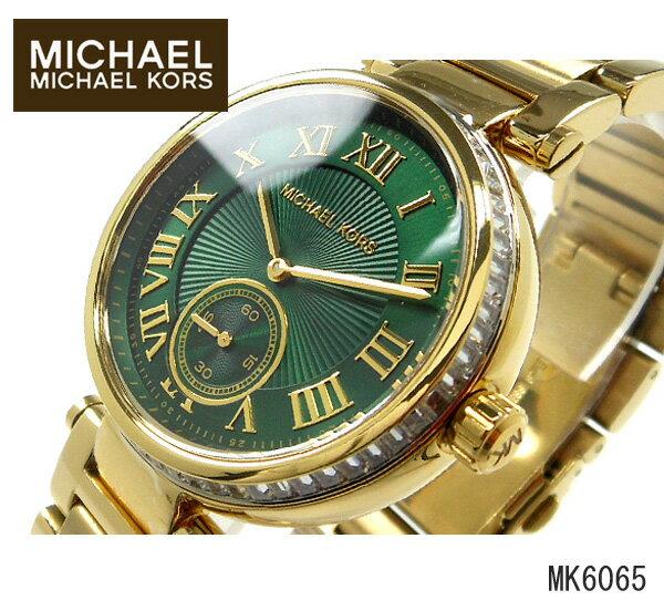 美國Outlet正品代購 MichaelKors MK 復古羅馬鑲鑽馬腦綠  陶瓷  三環 手錶 腕錶 MK6065 0
