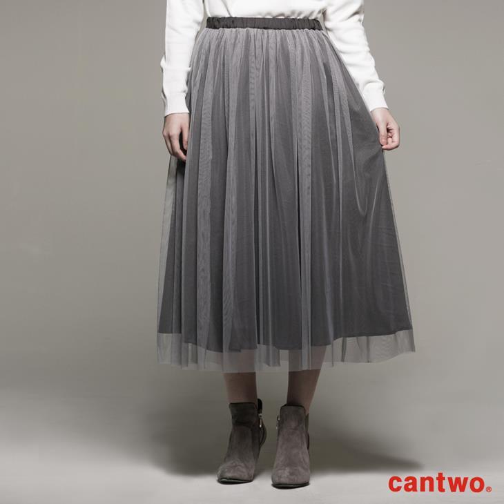cantwo雙色長紗裙(共二色) 0