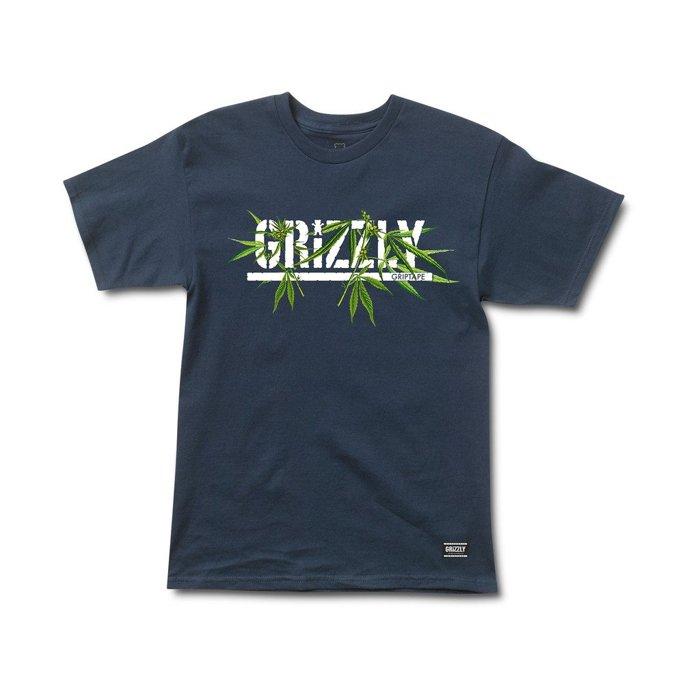 BEETLE GRIZZLY GRIPTAPE SEED STAMP 大麻 灰熊 小熊 深藍 LOGO 短T TEE - 限時優惠好康折扣