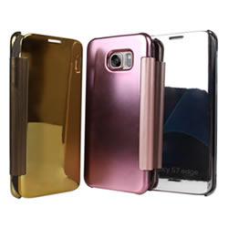 Ultimate- Samsung S7 edge 鏡面透視智能硬質掀蓋保護套 小奇機 手機殼 硬殼 保護殼