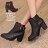 格子舖*【KW2194】MIT台灣製 嚴選韓版絕美女神 質感皮革 拉鍊粗高跟金屬短靴 馬丁靴 2色 0