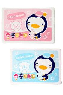 PUKU 藍色企鵝 天然方形乳膠枕 平枕 趴睡枕(P33106) 兩色