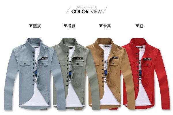 ☆BOY-2☆【NQX01】韓版休閒軍裝牛津外套 1