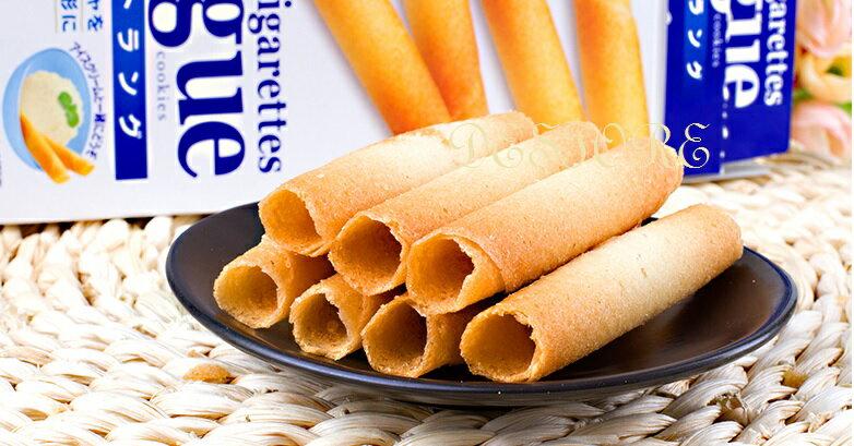 有樂町進口食品 日本 三立奶油薄燒雪茄捲 14入 日式捲餅 蛋捲 4901830352702 2