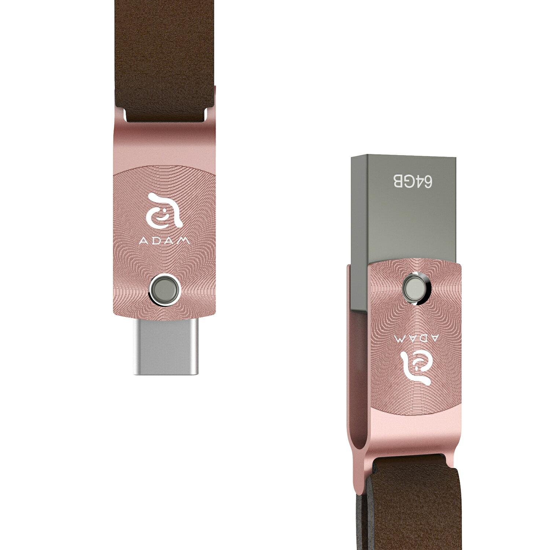 【亞果元素】 ROMA USB Type-C 雙用隨身碟 64GB 玫瑰金 1