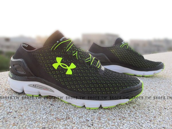 [28cm] Shoestw【1255821-002】UNDER ARMOUR UA 慢跑鞋 Speedform Gemini 黑螢黃