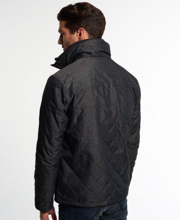 [男款] 英國代購 極度乾燥 Superdry Quilted Arctic Windcheater 男士 絎縫防風衣夾克 黑灰 3
