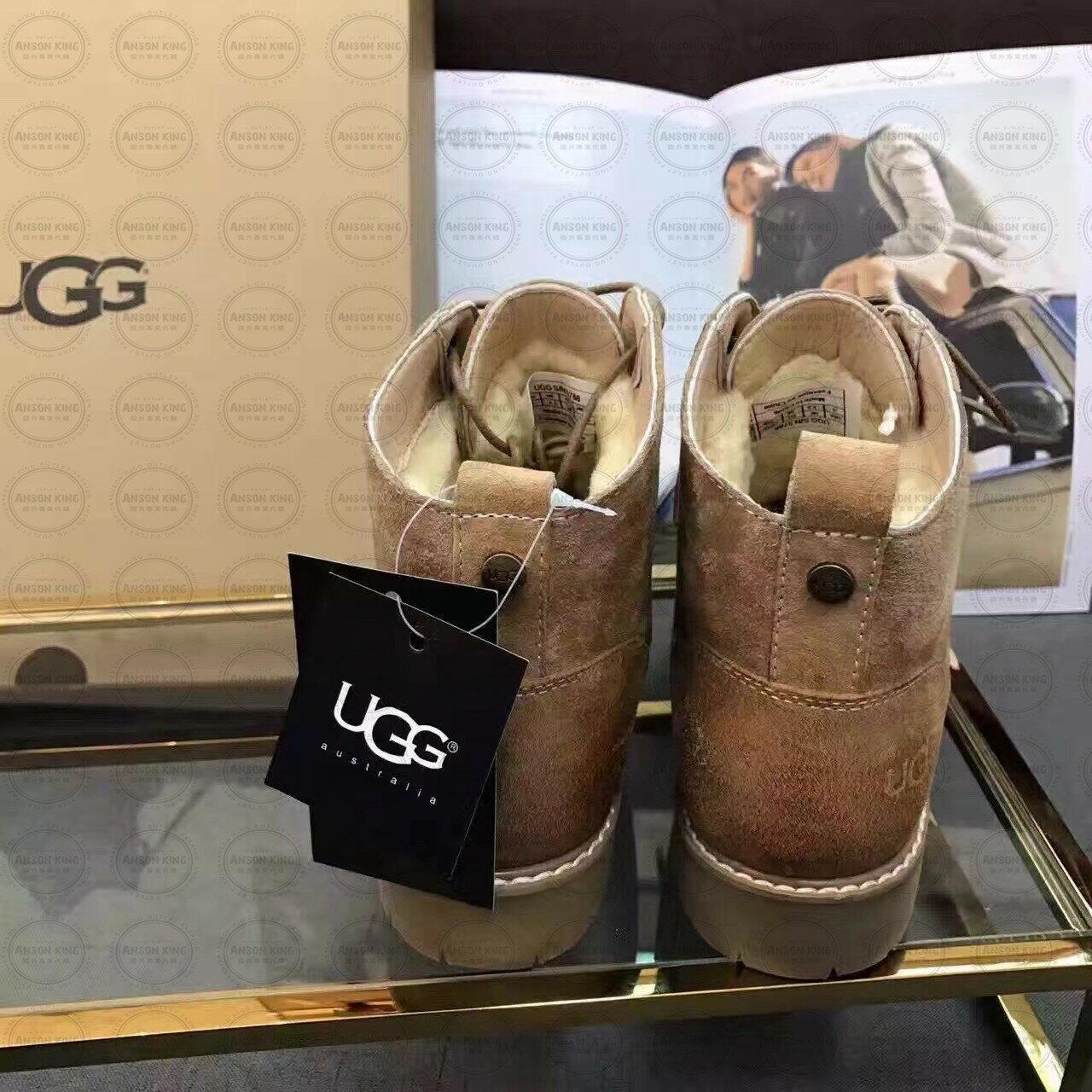 OUTLET正品代購 澳洲 UGG 女款加厚磨砂面 馬汀靴 中長靴 保暖 真皮羊皮毛 雪靴 短靴 駝色 1