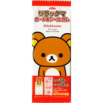 Rilakkuma拉拉熊口香糖(附卡片和貼紙)5.5g