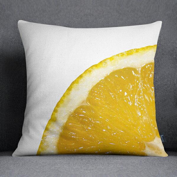 [IHERMI ] 柳橙A款抱枕 (45*45CM ) 愛好蜜  MIT台灣製造好安心 環保染劑使用 極細緻印染技術 0