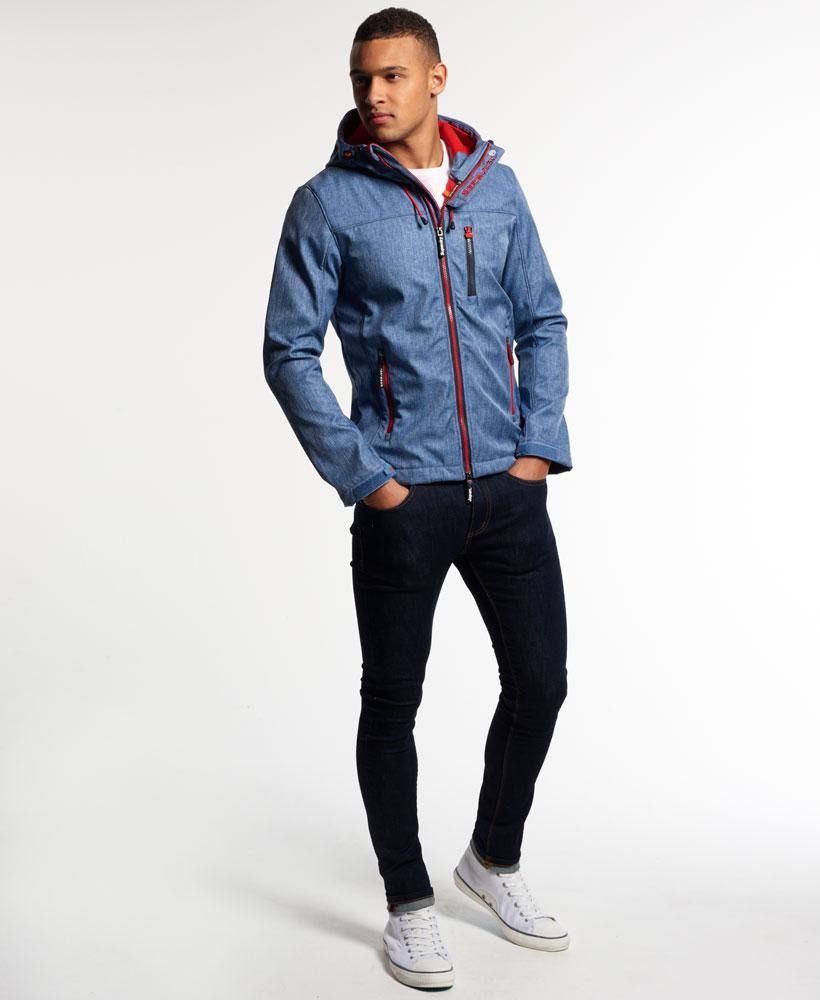 [男款] 英國名品 代購 極度乾燥 Superdry Windtrekker 男士風衣戶外休閒外套 防水 藍灰/叛逆紅 2