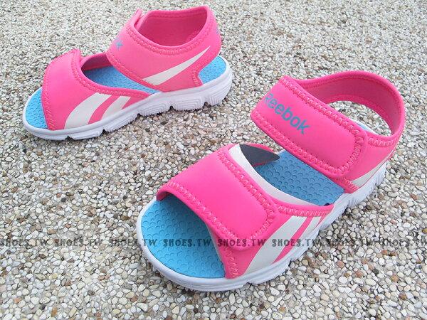 Shoestw【V70546】Reebok 涼鞋 小童鞋 免綁帶 粉紅