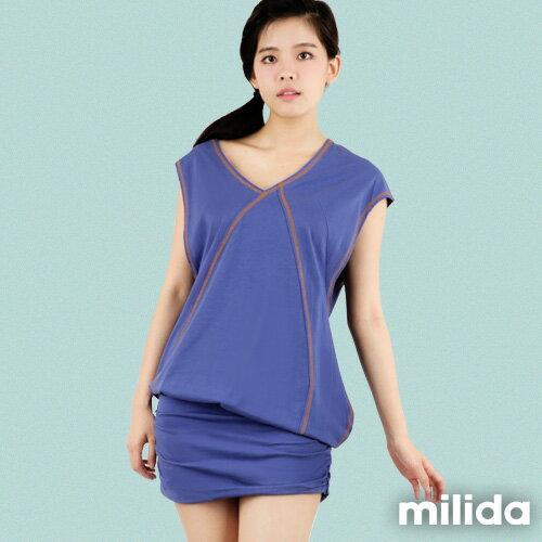 【milida】☆早春商品☆連衣裙☆造形肩袖設計