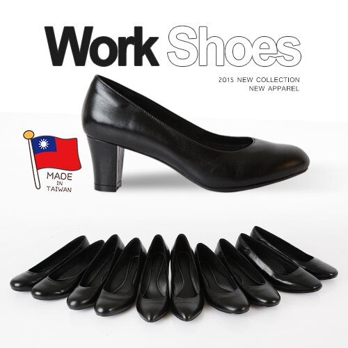 BONJOUR☆357氣墊高跟鞋☆可彎曲OL空姐靜音職場平底鞋(羊皮製)Work Shoes C.【ZB0247】黑 0