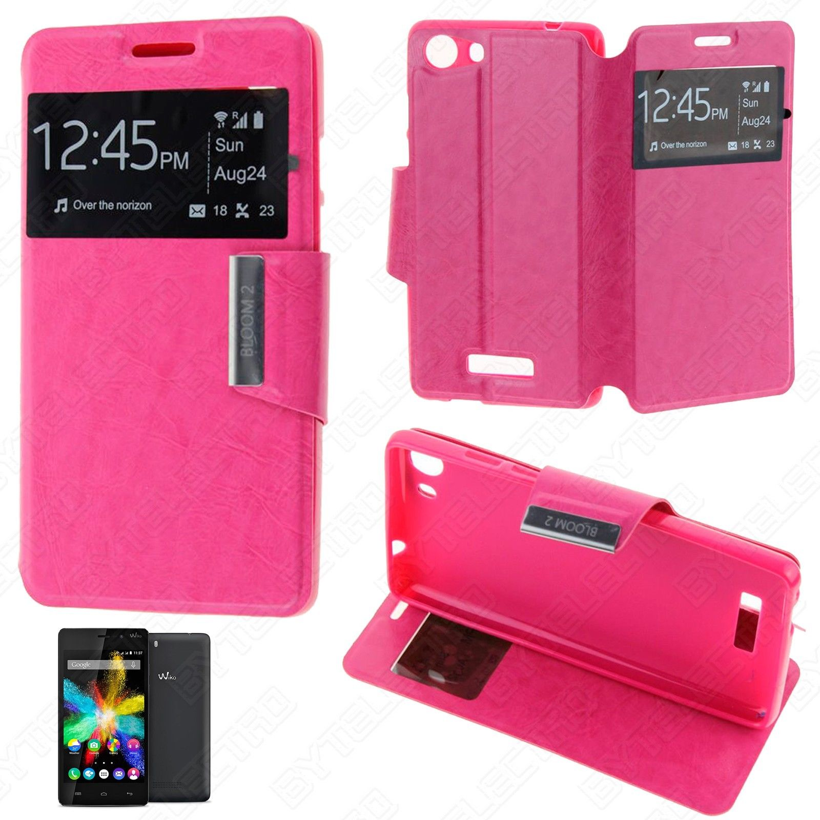 Funda Tipo LIBRO VENTANA Stand WIKO BLOOM 2 (Color Opcional) 4